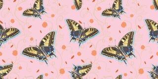 Modelo blanco con la mariposa, el c?rculo y la hoja libre illustration
