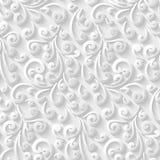 Modelo blanco con los remolinos de papel Imágenes de archivo libres de regalías