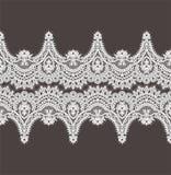 Modelo blanco del vector del cordón Cinta horizontal Frontera fotos de archivo