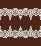 Modelo blanco del vector del cordón Cinta horizontal Frontera ilustración del vector