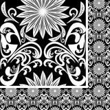 Modelo blanco inconsútil en fondo negro Fotografía de archivo