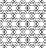Modelo blanco y negro de la almohada de la moda del inconformista de la geometría sagrada Fotografía de archivo