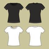 Modelo blanco y negro de la camiseta Fotos de archivo libres de regalías