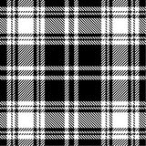 Modelo blanco y negro de la tela escocesa Imágenes de archivo libres de regalías