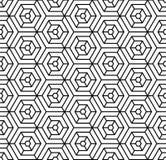 Modelo blanco y negro del hexágono de la almohada de la moda del inconformista de la geometría Foto de archivo libre de regalías