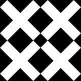 Modelo blanco y negro del vector de la cruz de la teja x ilustración del vector