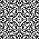 Modelo blanco y negro inconsútil stock de ilustración
