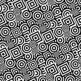 Modelo blanco y negro inconsútil ilustración del vector