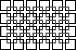 Modelo blanco y negro inconsútil con el cuadrado Imagenes de archivo