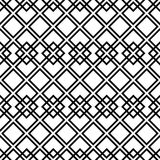 Modelo blanco y negro inconsútil con el cuadrado Foto de archivo libre de regalías