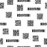 Modelo blanco y negro inconsútil con los códigos de barras foto de archivo libre de regalías