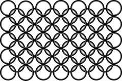 Modelo blanco y negro inconsútil con redondo Imagen de archivo libre de regalías