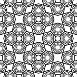 Modelo blanco y negro inconsútil del vector Foto de archivo libre de regalías