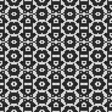 Modelo blanco y negro regular de la cortina alineado en cuadrado Ejemplo rico de semitono del modelo Fondo abstracto del fractal libre illustration