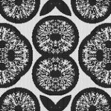 Modelo blanco y negro regular de la cortina alineado en cuadrado Ejemplo rico de semitono del modelo Fondo abstracto del fractal stock de ilustración
