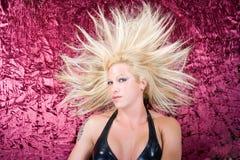Modelo blondy de la manera planteado Foto de archivo