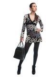 Modelo bonito com bolsa Imagem de Stock