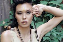 Modelo bonito com pele bem arrumado Imagens de Stock Royalty Free