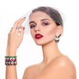 Modelo bonito e de forma Imagens de Stock Royalty Free