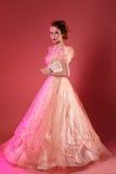 Modelo bonito e elegante no vestido Imagens de Stock