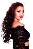 Modelo bonito novo da mulher com cabelo longo Imagens de Stock