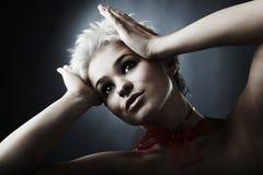 Modelo bonito vestido como o fairy da forma Fotos de Stock