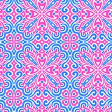 Modelo bordado inconsútil Impresiones para las materias textiles Ornamento en p stock de ilustración