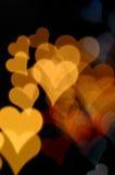 Modelo borroso de los corazones coloridos Imágenes de archivo libres de regalías