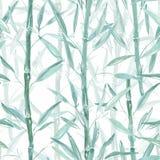 Modelo botánico inconsútil Ramas de bambú en un fondo rosado Modelo elegante para las materias textiles stock de ilustración