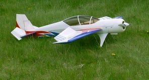 Modelo branco do avião foto de stock