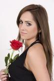 Modelo brasileño con una Rose Fotos de archivo