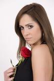 Modelo brasileiro com uma Rosa Imagens de Stock Royalty Free