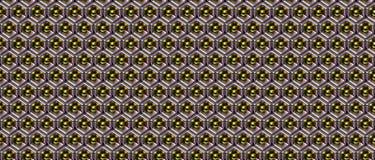 Modelo brillante abstracto 111 del objeto del metal Foto de archivo