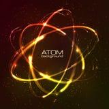 Modelo brillante del átomo de las luces de neón del vector stock de ilustración