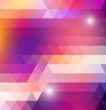 Modelo brillante geométrico con los triángulos Imagen de archivo