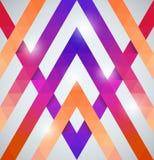 Modelo brillante geométrico con los triángulos Imagen de archivo libre de regalías