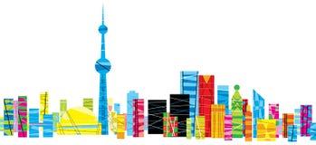 Modelo brillante Toronto stock de ilustración