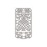 Modelo céltico bajo la forma de teléfono Foto de archivo