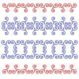 Modelo céltico de la cinta de espirales y de triángulos Imagen de archivo libre de regalías