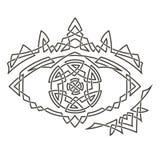 Modelo céltico simple en la forma del ojo Foto de archivo libre de regalías