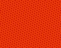 Modelo cóncavo del rojo del caleidoscopio de los hexágonos ilustración del vector