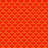 Modelo caótico de Rhombus amarillos y de triángulos rojos en un zigzag stock de ilustración
