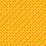 Modelo caótico de Rhombus rosados brillantes y de triángulos amarillos en un zigzag ilustración del vector