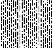 Modelo caótico inconsútil simple Raya vertical y puntos Dotte stock de ilustración
