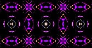 Modelo caleidoscópico en fondo oscuro en colores vibrantes libre illustration