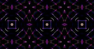 Modelo caleidoscópico en fondo oscuro en colores vibrantes stock de ilustración