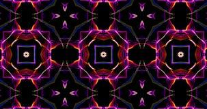 Modelo caleidoscópico en fondo oscuro en colores vibrantes ilustración del vector