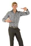 Modelo caucásico joven del hombre, enfocándose Imágenes de archivo libres de regalías