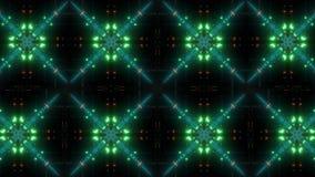 Modelo centellante y que brilla intensamente del caleidoscopio del multicolor almacen de video
