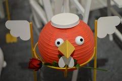 Modelo chinês do pássaro das lanternas Imagens de Stock Royalty Free